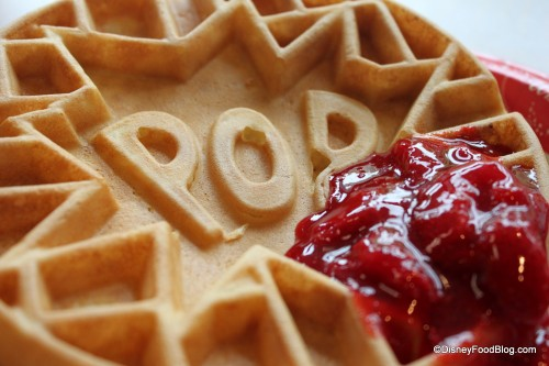 Pop Waffle with Strawberries